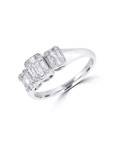 Effy 14K White Gold and Diamond Engagement Ring-WHITE GOLD-7