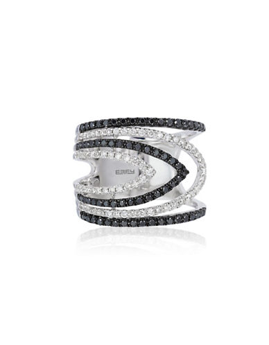 Effy 0.86 TCW Two-Tone Teardrop Diamond, 14K White Gold Ring-TWO-TONE-7