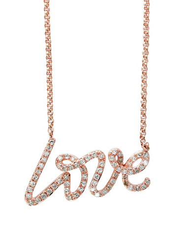 Effy 14K Rose Gold and 0.26 TCW Diamond Necklace-DIAMOND-One Size