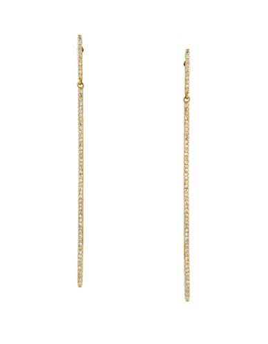 Effy 0.35 TCW Diamond 14K Yellow Gold Linear Drop Earrings-DIAMOND-One Size