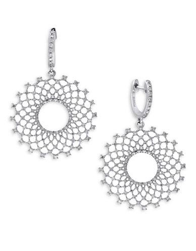 Effy 1.14 TCW Diamond, 14K White Gold Earrings-DIAMOND-One Size