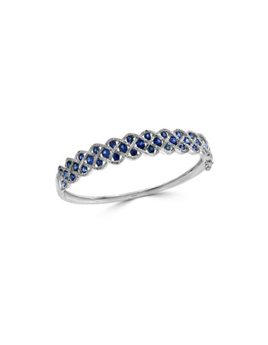 Effy Sapphire, 14K White Gold and 1.06 TCW Diamond Bangle Bracelet-SAPPHIRE-One Size