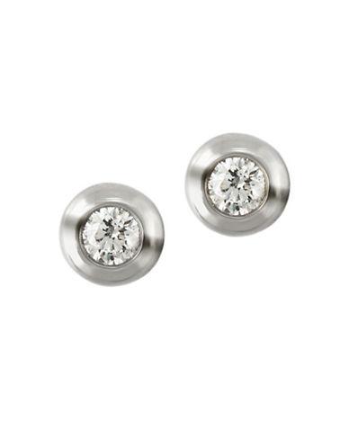 Effy 0.39TCW Diamond 14K White Gold Stud Earrings-DIAMOND-One Size