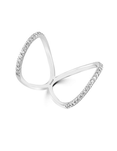 Effy 0.47 TCW Diamond, 14K White Gold Butterfly Ring-WHITE GOLD-7