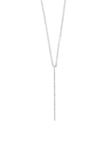Effy 14K White Gold Lariat Earrings with 0.14 TCW Diamonds-WHITE GOLD-One Size