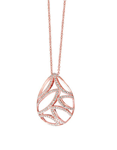 Effy 14K Rose Gold and 0.44TCW Diamond Teardrop Pendant Necklace-ROSE GOLD-One Size