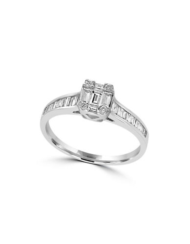 Effy 14K White Gold Baguette Band Ring with  0.52 TCW-DIAMOND-7