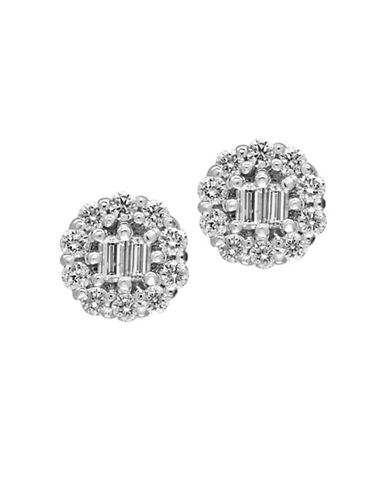 Effy 14K White Gold and 1.04 TCW Diamond Stud Earrings-DIAMOND-One Size