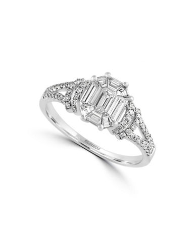Effy 14K White Gold and 0.8 TCW Diamond Engagement Ring-DIAMOND-7