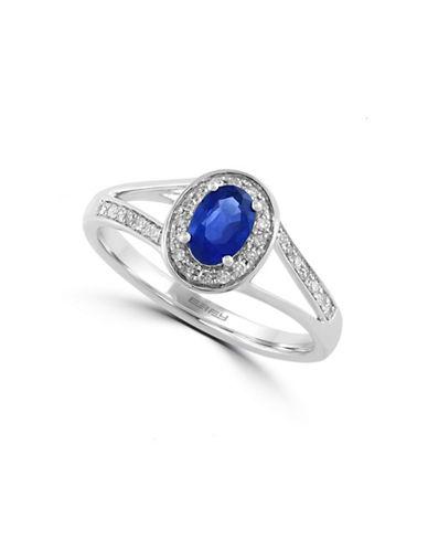 Effy 0.13 TCW Diamond and Sapphire 14K White Gold Ring-SAPPHIRE-7