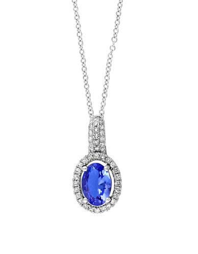 Effy 14K White Gold Tanzanite and 0.16 TCW Diamond Pendant Necklace-TANZANITE-One Size