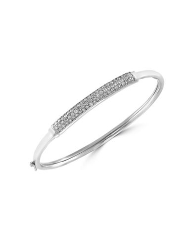 Effy 14K White Gold Bangle Bracelet with 1 TCW Diamond-DIAMOND-One Size