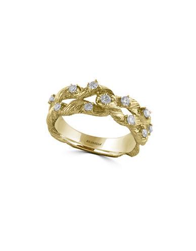 Effy 14K Yellow Gold 0.33 Total Carat Weight Diamond Spun Ring-DIAMOND-7
