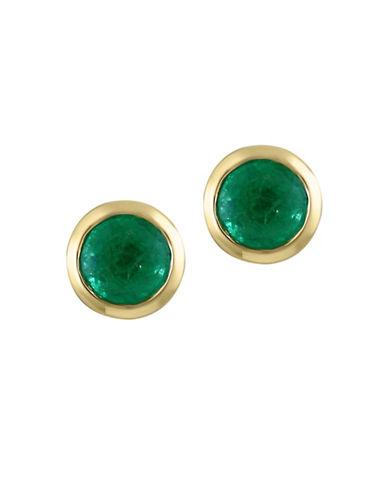 Effy 0.95 TCW Emerald 14K Yellow Gold Stud Earrings-EMERALD-One Size