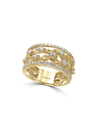 Effy 14K Yellow Gold 0.6TCW Diamond Ring-DIAMOND-7