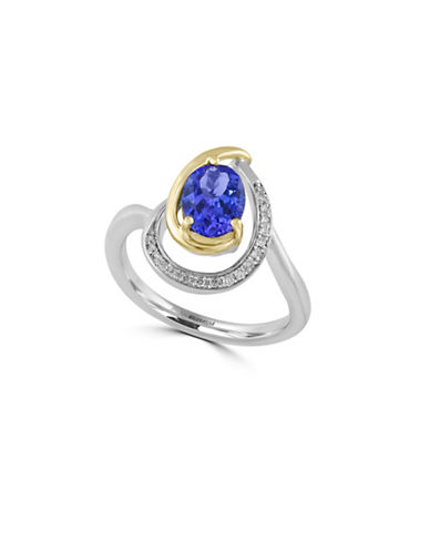 Effy 0.07 TCW Diamond and Tanzanite 14K Gold Ring-TANZANITE-7