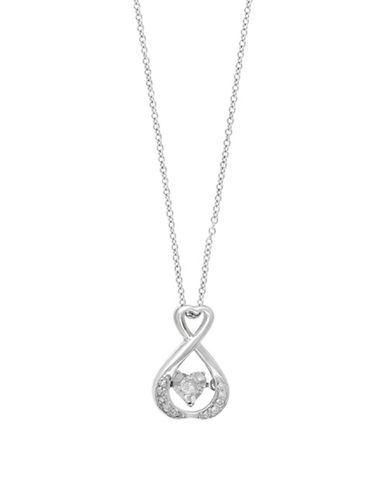 Effy 14K White Gold Diamond Pendant-SILVER-One Size