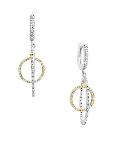 Effy 14K Two-Tone Gold 0.75TCW Diamond Multi-Hoop Drop Earrings-DIAMOND-One Size