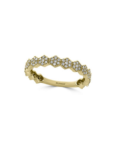 Effy 14K Yellow Gold and 0.38 TCW Diamonds Ring-GOLD-7