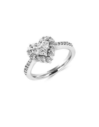Effy 14k White Gold and 0.92 TCW Diamond Heart Ring-DIAMOND-7