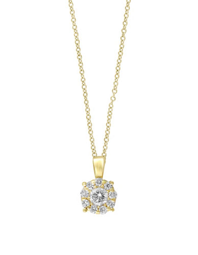 Effy 14K Yellow Gold 0.47TCW Diamond Pendant Necklace-DIAMOND-One Size