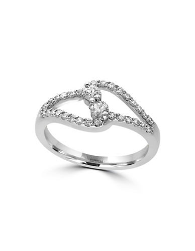 Effy 14K White Gold Ring with 0.49 TCW Diamonds-DIAMOND-7