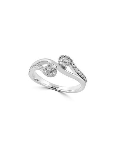 Effy 14K White Gold Ring with 0.38 TCW Diamonds-DIAMOND-7