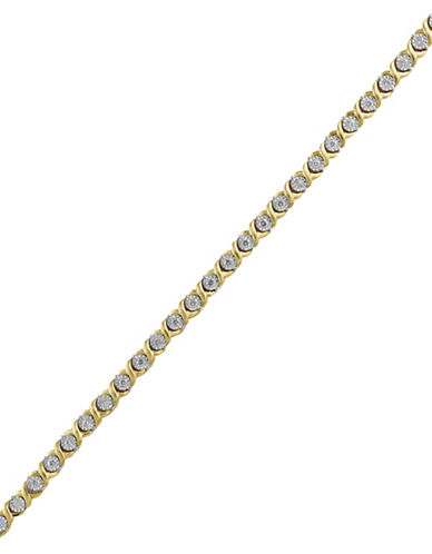 Effy 14K Yellow Gold 0.71TCW Diamond Tennis Bracelet-DIAMOND-One Size