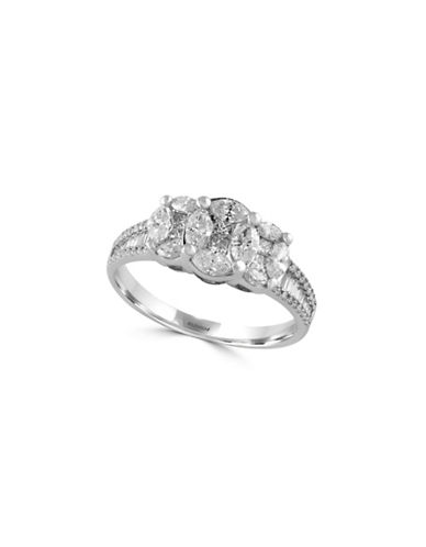 Effy 1.11TCW Diamond Cluster 14K White Gold Ring-DIAMOND-7