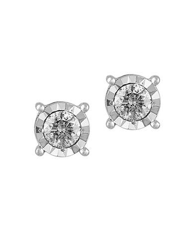 Effy 0.49 TCW Diamond 14K White Gold Stud Earrings-DIAMOND-One Size