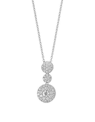 Effy 14K White Gold 0.93TCW Diamond Disc Necklace-DIAMOND-One Size