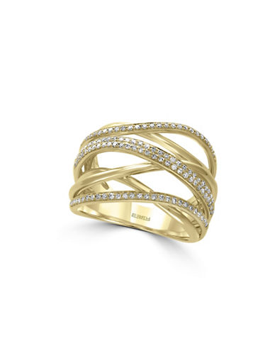 Effy 14K Yellow Gold Wrapped 0.45TCW Diamond Ring-DIAMOND-7