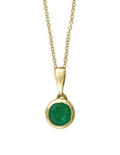 Effy 14K Yellow Gold Emerald Pendant Necklace-EMERALD-One Size