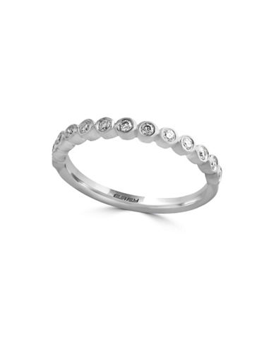 Effy Pave Classica 14K White Gold and 0.19 TCW Diamond Ring-DIAMOND-7
