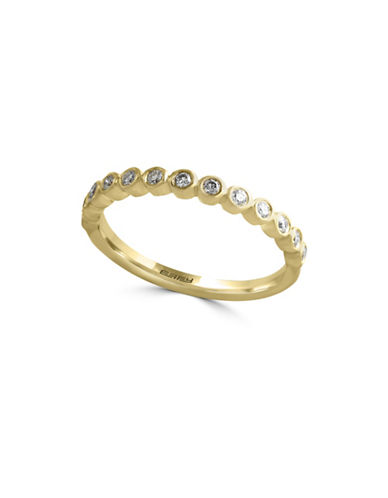 Effy 14K Yellow Gold Single Band Ring with  0.19 TCW Diamonds-DIAMOND-7