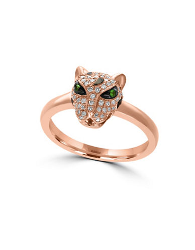 Effy 14K Rose Gold Tsavorite Leopard Ring-DIAMOND-7