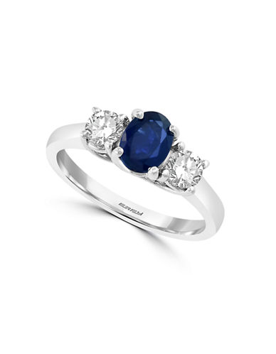 Effy 14K White Gold and Two-Tone Sapphire Ring-WHITE GOLD-7