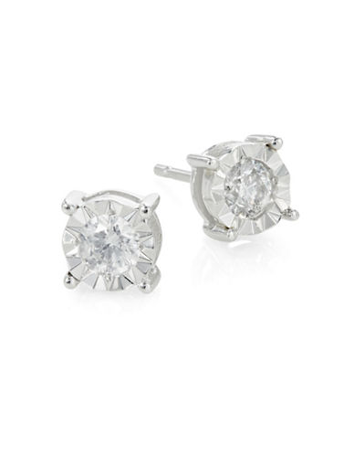 Effy 14K White Gold and 0.49 Total Carat Weight Diamond Round Stud Earrings-DIAMOND-One Size