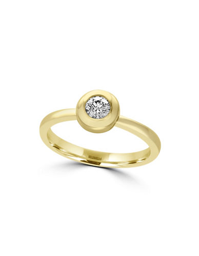 Effy 14K Yellow Gold Bezel-Set Diamond Ring-DIAMOND-7