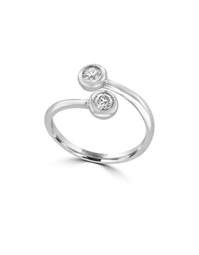Effy 14K White Gold Ring with 0.39 TCW Diamonds-DIAMOND-7