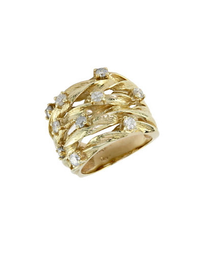 Effy Effy 14K Yellow Gold 0.98ct Diamond Ring-DIAMOND-7