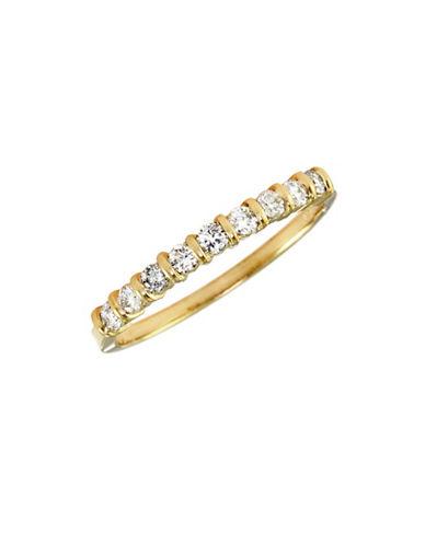 Effy 14K Yellow Gold Diamond Stack Ring-DIAMOND-7