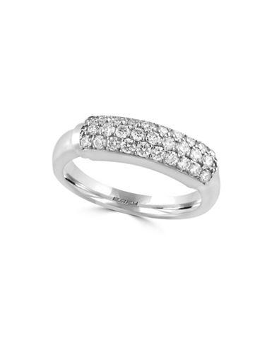 Effy 14K White Gold Ring with 0.57 TCW Diamond-DIAMOND-7