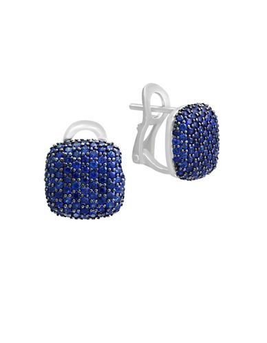 Effy Sapphire and 14K White Gold Stud Earrings-SAPPHIRE-One Size