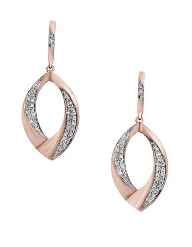 Effy 14K Rose Gold and 0.33 TCW Diamond Drop Earrings-ROSE GOLD-One Size