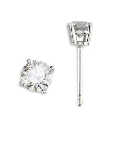 Effy 14K White Gold Stud Earrings with 0.49 TCW Diamonds-DIAMOND-One Size