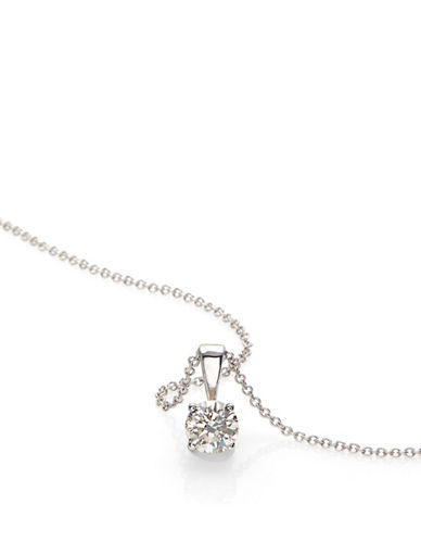 Effy 14K White Gold Pendant Necklace with 0.49 TCW Diamonds-DIAMOND-One Size