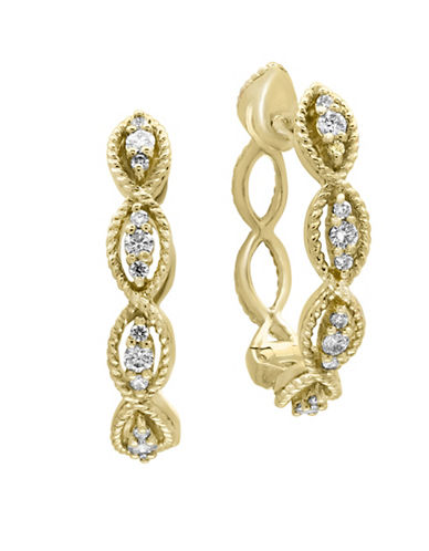 Effy 14K Yellow Gold Earrings with 0.31 TCW Diamond-GOLD-One Size