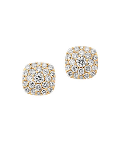 Effy Diamond and 14K Gold Earrings-DIAMOND-One Size