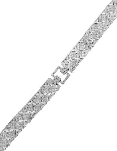Effy 14K White Gold 2.08TCW Diamond Tennis Bracelet-DIAMOND-One Size